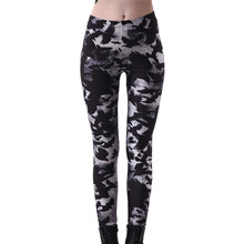 Buy Plus size 4XL 2017 Sportings Women's Black Milk Workout Leggings Crow Printed Fitness Pant Slim Jeggings Trousers Yuga Slim for $6.99 in AliExpress store