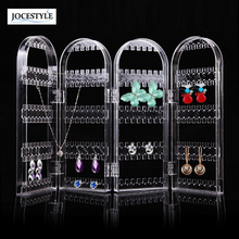 Acrylic Clear 4 Doors Bracelet Earrings Necklace Jewelry Display Stand Holder High Quality Jewelry Rack