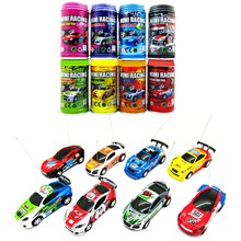 Original Multi-color Coke Can RC Car Radio Remote Control Car Micro Racing Car Vehicle with LED Headlights Kids Toy Gift