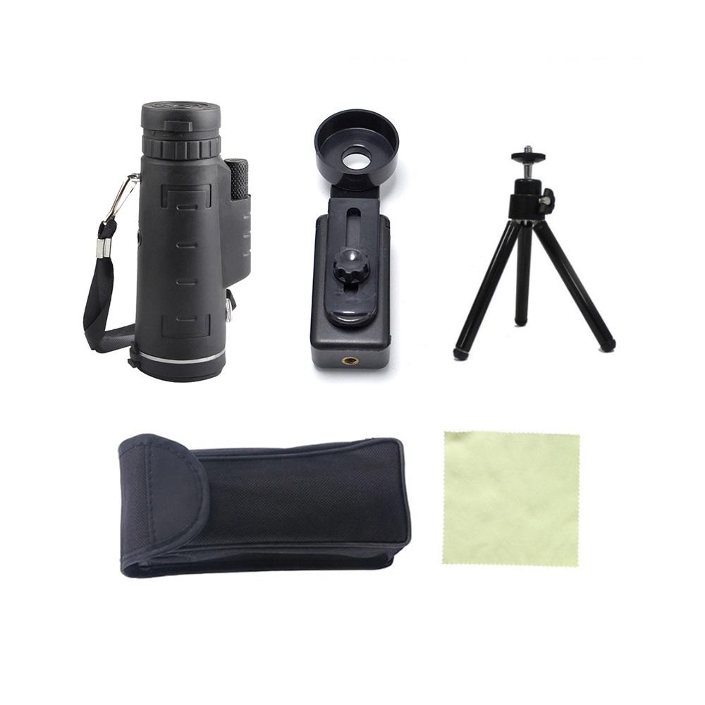 TOKOHANSUN 40X60 HD Zoom Lens Monocular Telescope + Tripod + Clip for Samsung for IPhone Xiaomi Huawei Camping Travel Phone Lens 9