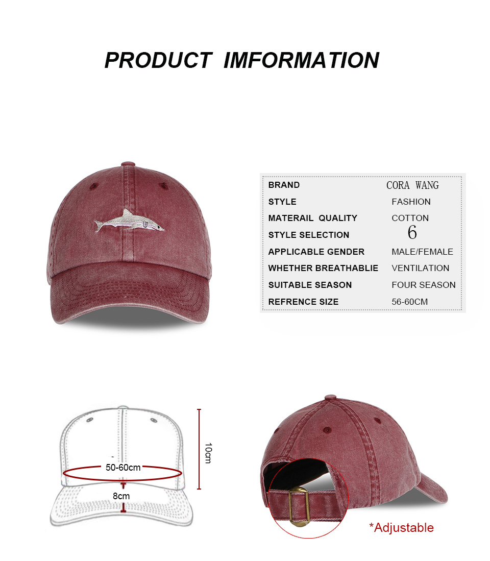 "Shark Cap"" Shark Snapback Cap for Men/Women 2"