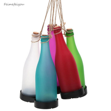 Feimefeiyou Pack of 5 Solar Powered LED Bottle Lamp Hanging Glass Wine Bottle Landscape Lights for Garden Yard Lawn Party Decor(China)