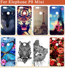 "Buy Elephone P8 Mini Cases Luxury Wolf Tiger Owl Rose Eiffel Towers DIY Print Soft Tpu Case Elephone P8 Mini 5.0"" Skin Phone Bag for $2.02 in AliExpress store"