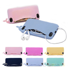 Hot sell New design phone bag handbag Kawaii Big Mouth Whale Rubber Soft Case Cover phone case for  iPhone 4/4S/5/5S