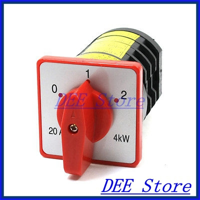 380VAC 20A 4KW 12 Terminals 0-1-2 3 Positions Changeover Cam Switch<br><br>Aliexpress