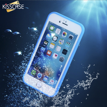 KISSCASE Super Waterproof Case For iPhone 6 6S 7 Plus 5S SE Smart Touch Screen Soft TPU Underwater Dust proof Shockproof Cover