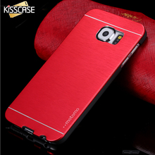 KISSCASE Case Luxury Plating Hard PC Cases For Samsung Galaxy S6 S6 Edge S7 Slim Metal Brush Cover For Samsung Galaxy S6 S7 Edge