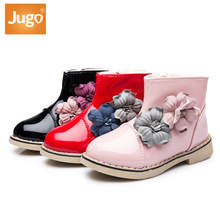2016 new fashion children Lovely 3D flowers girls winter boots kids PU leather shoes classic sneakers Casual shoes martin boots