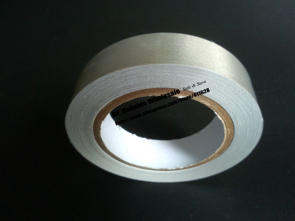 1x 40mm* 20 meters Silver Single Sided  Conductive Fabric Cloth Adhesive Tape Laptop/Notebook Components EMI Shielding<br><br>Aliexpress
