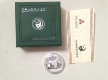 2013 Year Chinese 1oz panda silver  plated coin 10 Yuan with box for collection free shipping