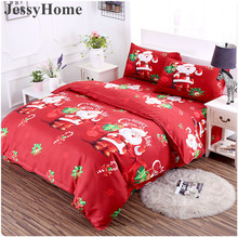 3D Merry Christmas Bedding Set Duvet Cover Purple Digital Transfer Comforter Bed Set Gifts USA Size Queen King(China)
