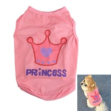 2017 New Fashion Dogs Cat Summer Coat Pet Princess T-shirt Clothes Costumes Outfit Puppy Vest Tank Clothes For Dog Free Shopping