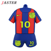 JASTER Trend Fashion usb flash pen drive 32GB Barcelona messi Barcelona 10 number memory stick PVC cute u disk 8GB 4GB Jersey