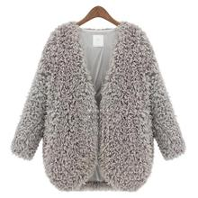 2016 Autumn Winter Newest Female Lambs Wool Coat Shawl Fashion Womens Capes And Ponchoes Ladies Vintage Warm Costs