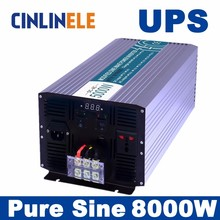 Universal inverter UPS+Charger 8000W CLP8000A Pure Sine Wave Inverter DC 12V 24V 48V to AC 110V 220V 8000w Surge Power 16000W