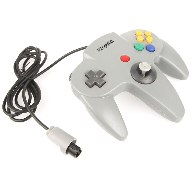 1x Long Handle Gaming Controller Pad Joystick For N64 System Good Wired Joystick Controller Gamepad