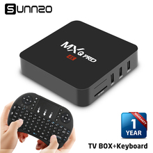 MXQ pro Set-top box Smart Android 6.0 TV BOX 1+8GB Quad Core kodi 16.1 tv box Streaming Media Player 4k WiFi + Wireless Keyboard(China)
