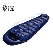 Black Ice G-400 Professional outdoor White Goose Down winter mummy type sleeping bag