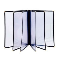 30Pcs/lot A4 Size 6 Sheets 12 Views PVC Wine List Holders Restaurant Menu Covers Cafe Bar Menu Folders Customized Order