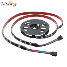 Mising 2X50CM 30 LED 5050 SMD LED Strip Light RGB 12V DC With 17 Key RF Wireless Remote For PC Computer Case