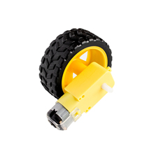 Best prices   4pcs/lot Deceleration DC motor + supporting wheels , a / smart car chassis, motor / robot car wheels