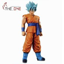 "28 cm 11"" Movie Dragon Ball Blue Hair Goku PVC Anime Action Figure Toys Kids Adult Collection Show Model Gift P028(China)"