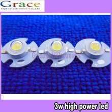 100PCS 1w 3W High Power Natural White LED Light Emitter 3Watt 4000-4500K led diodes with 16mm Heatsink(China)