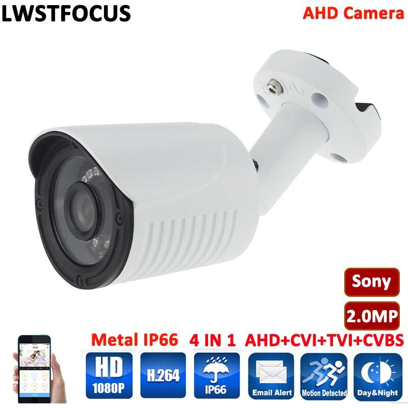 LWSTFOCUS AHD Camera Outdoor 4 in 1 HD Camera AHDH FULL HD 1080P AHD Camera Sony IMX323 or 2MP CMOS Sensor With IR Cut Filter<br>