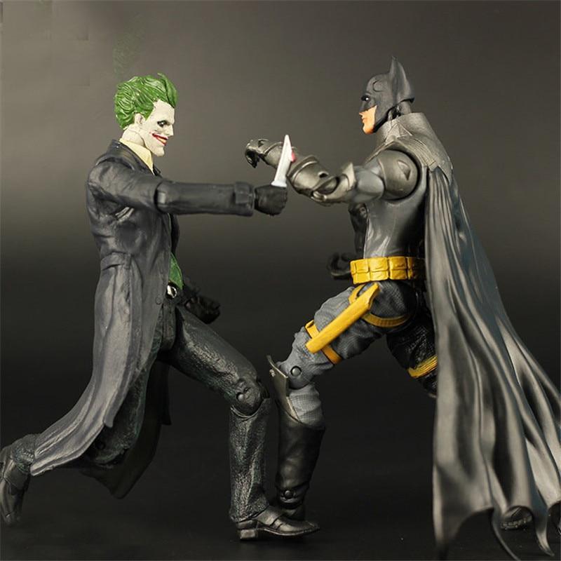 19cm The Dark Knight  Batman&amp;Clown Joker Action Figures Toy  Bat man Robot Dolls boy gifts<br><br>Aliexpress