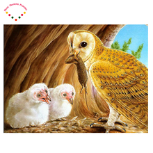 Mosaic painting DIY mouse drill diamond painting diamond Eagle and cubs embroidery diamond needlework painting cross stitch(China)