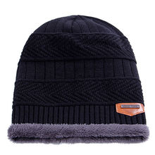 HIRIGIN New  Women Men Winter Knitted Beanie Fur Baggy Wool Caps Skull Slouchy Warm Ski Hat