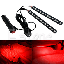 New Red 2X12 LED Car Interior Footwell Floor Decor Atmosphere Light Neon Strips-D2TB