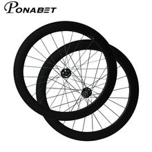 PONABET 700C  60mm tubular carbon bike cyclocross wheels with Novatec hub from Taiwan