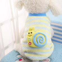 Winter Coral Velvet Puppy Vest Clothing Soft Warm Flannel Dog Clothes for Small Medium Large Pet Coat XXS~XXL Wholesale &915(China)