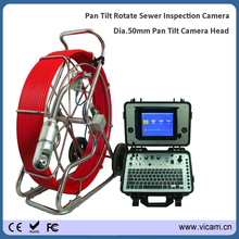 Water industry detection endoscope camera 120m fiber optic cable water well camera with pan tilt rotation camera head and DVR(China)