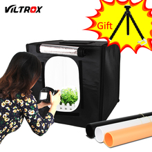 Viltrox 40*40cm LED Photo Studio Softbox Light Tent Soft Box + AC Adapter + Backgrounds for Phone Camera DSLR Jewelry Toys Shoes(China)