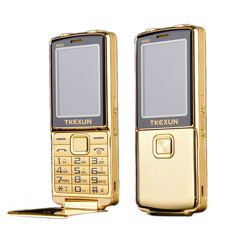 8800i one key dual torch one key FM bluetooth SOS speed dial whatsapp old man senior unlocked flip metal mobile phone P210(China)