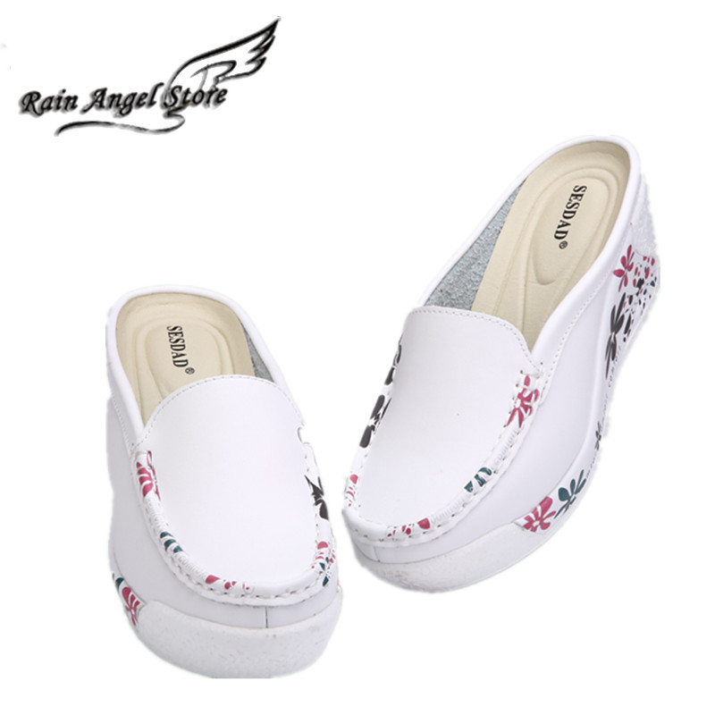 cover toe wedge slippers for woman 2017 summer  high heel female flower sandals casual shoes  zapatos de las sandalias de ocio<br><br>Aliexpress