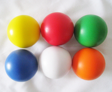 free shipping , 6.3cm diameter 6pcs /lot anti stress ball,6 colors pu stress  ball ,pu squeeze ball
