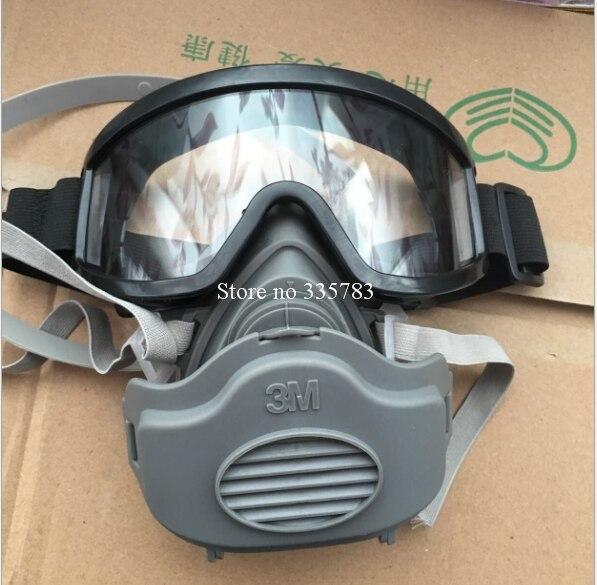 IIIM 3200 dust mask + 20pcs III 3701 filter cotton + Safety glasses combination respirator mask smoke anti shock dust mask<br><br>Aliexpress