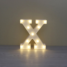LED Light Novelty 3D Alphabet ABCD Letter Night Light Christmas Romantic Wedding Decorative Party Lighting Lamps Lantern Fixture