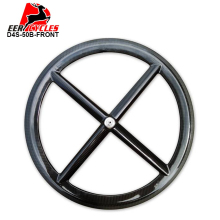 Deercycles FRONT Carbon Wheel CLINCHER/TUBULAR 700C 50mm Four Spokes 4 Spoke Road/Track/Fixed Gear/Triathlon/TT Bike Wheels