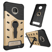 For Motorola Moto Z play XT1635 Phone Case Shockproof 360 rotating swivel bracket Netted heat dissipation Armor Phone Case Cover