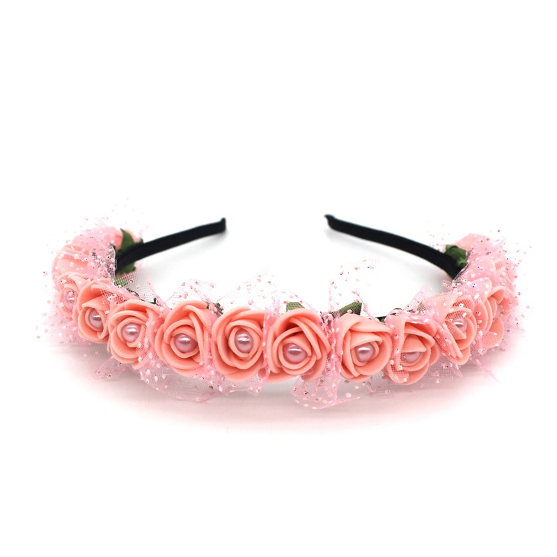 Lanxxy 17 New Fashion Pearl Flowers Hairbands for Girls Women Wedding Bridal Hair Accessories Floral Headbands 13