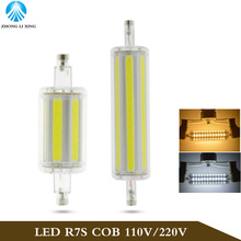 Support Dimmer LED R7S Light 118mm 30W COB R7S Lamp J118 LED Corn Bulbs Tubes Replace Halogen Lamp AC 85-265V 110V 220V Dimmable