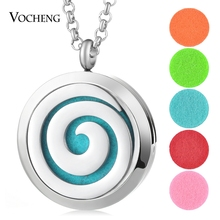 30mm Essential Oil Diffuser Locket 316L Stainless Steel Cross Magnetic Randomly Send 5pcs Oil Pads as Gift VA-403(China)