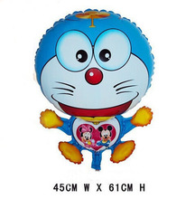 doraemon cat balloon animals inflatable air balloons for party supplies kids classic toy 45*61cm(China)