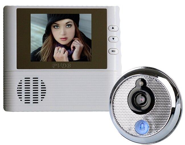 2.8 Peephole Door Viewer Doorbell Doorphone Video Intercom Night Vision Home Security 3X Digital Zoom<br>