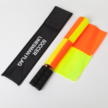 Gojoy Football referee flags 1 pair High quality Sports linesman Fair Play flag set Soccer referee equipment Wholesale(China)