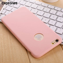 CHOEOIWE Cute Candy Mint Pink Color Case for iPhone 5 5s SE 6 6s 7 Plus Ultra Thin Soft Silicone Back Cases i6 6S Cover Shell